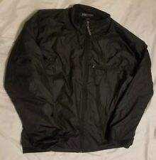 Marmot Mens XL Windbreaker Jacket  Black Lightweight Full Zip