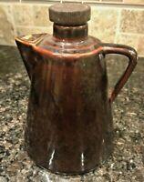 Leroux Liqueurs Coffee Pot Decanter Creme De Cafe Liqueur Bottle with 2 corks