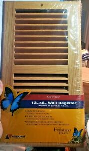 Accord Light Wood Oak Natural Wall Register 12in x 6in AOSWOLL126