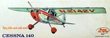 """Berkeley CESSNA 140 PLAN + PARTS PATTERNS to Build a 33"""" FF / UC Model Airplane"""