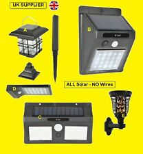 UK LED Solar Outdoor Garden Lights Put Anywhere Fitted In Seconds Fast UK Post