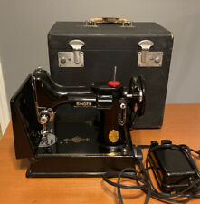 Singer Model 221 Featherweight Portable Sewing Machine Vtg 1949 Complete W/ Case