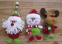 1PC Christmas Santa Claus Snowman Dear Tree Door Decoration Ornament hanger doll