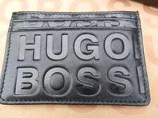 Hugo Boss Para Hombre Saurio Black Label de línea delgada de traje de cuero de crédito tarjeta de ID de cartera