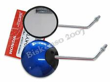 "HONDA CB500 CB550 L/R MIRROR SET ""BLUE"" GENUINE  (bi)"