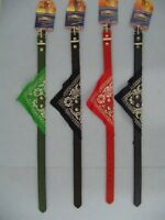 """12 BRAND NEW 18"""" DOG COLLARS WITH BANDANAS,WHOLESALE PET SUPPLIES, FREE SHIPPING"""