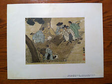 """Block Print art from Korea - 12"""" x 10"""" signed and dated"""