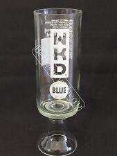 WKD ORIGINAL BLUE VODKA CHALICE GLASS GOBLET (NEW DESIGN) - 100% RECYCLED!