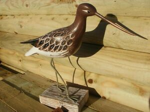 Wood carving of a GODWIT  by Archipelago - D311