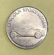 Lincoln Sport Sedan 1925 Antique Car Series 1 Commemorative Coin Token Sunoco