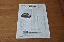Philips 13GF822 Record Player Workshop provisional service manual 13GF 822