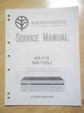 Kenwood Service Manual ~ KR-710/710L Receiver ~ Original Reparatur Buch
