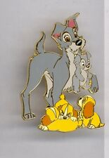 Disney Auctions Lady & the TRAMP Puppies Scamp Annette Colette Danielle Dogs Pin