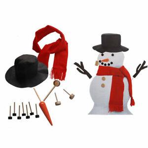 Snowman Decoration Making Kit Christmas Snowman Dress Up Suit Eyes Toy G Et