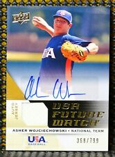 ASHER WOJCIECHOWSKI - 2009 UPPER DECK SIGNATURE STARS USA NATIONAL TEAM FUTURE