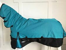 AXIOM 1800D BALLISTIC WATERPROOF BRIGHT BLUE/BLACK 300g COMBO HORSE RUG - 5' 6