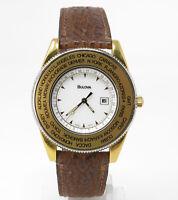 Orologio Bulova gmt timemaster worldtime watch caliber eta 955232 clock rare