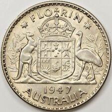 1947 AUSTRALIA FLORIN SILVER COIN