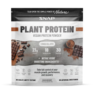 Plant Protein Powder, Muscle Growth, Performance & Recovery - Vegan Chocolate