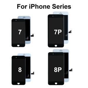 For iPhone 7 8 Plus + LCD Digitizer Screen Replacement Touch Display Home Button