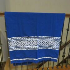 New listing Woven Ethnic Casa Guatemala Fabric Blue White 2+ yards 100% Cotton Colorfast