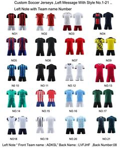 Custom Youth Soccer Jersey+Shorts Tranning Rubgy Jerseys Mens Kids More Choice