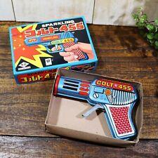 Tin Toy Gun Sparkling COLT455 1970s original made in Japan
