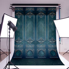 5x7ft Vintage Retro Green Wall Photo Backdrops Photography Backgrounds Props