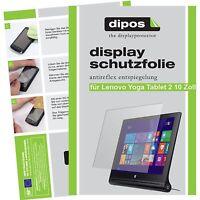 2x Schutzfolie für dipos Lenovo Yoga Tablet 2 10.1 matt Displayschutzfolie