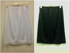 WOMEN'S HALF UNDER SLIP/PETTICOAT UK SIZES 10-22 WHITE AND BLACK
