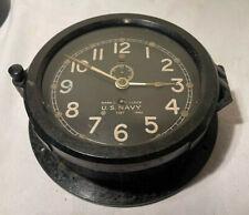 New listing Ww 2 Chelsea Us Navy Ship's Mark I Clock #7197 - 1940 - Bakelite