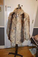men's berman's 38 s/m nanny goat striped fur coat jacket
