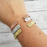 Women Girl Sister Friendship Family Love Open Bangle Bracelet Jewelry Gift LE