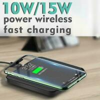 1xQi Fast Wireless Charger Charging Pads 10W/15W For iPhone Samsung H6B1