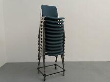 Castelli 8 x sedia DSC 106 Giancarlo Piretti impilabile Rivestimento Blu