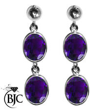 Drop/Dangle Amethyst White Gold Fine Earrings