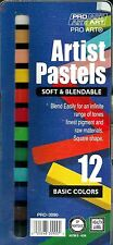 CHALK PASTELS 12 COLORS! ~ SOFT PASTEL SET ~ FREE SHIPPING!!