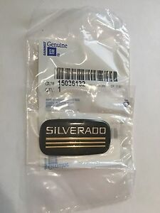 1988-1999 Chevrolet Silverado Black and Gold Silverado Body Side Emblem New OEM