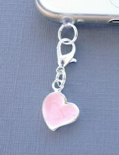 Heart Pink cell phone Charm Anti Dust proof Plug ear Cap jack For iPhone C31