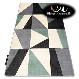 MODERN Amazing New design RUG 'ALTER FIORI' geometric green Best-Carpets