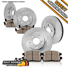 Front and Rear Brake Rotors & Ceramic Pads CADILLAC DEVILLE PARK AVENUE ULTRA