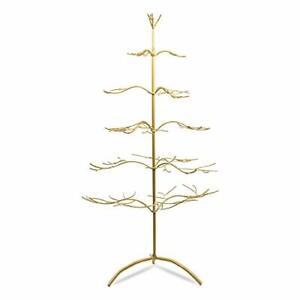 """Tripar Metal Ornament Display Tree and Jewelry Organizer – 36"""" Gold"""