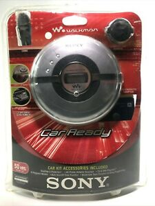 Sony Walkman D-EJ106CK Car Ready Portable CD Player w Power Kit & Headphones NOS