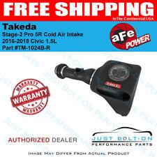 AFE Takeda Stage-2 Pro 5R Cold Air Intake fits 2016-2018 Civic 1.5L - TM-1024B-R