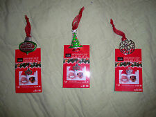 Set of 3*Studio Decor*Metal Holiday Clip Ornament*Tree*Merry Christmas*Ornament