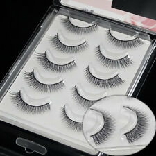 5PS Handmade Hard Makeup Sharpen Natural Cross False eyelashes Eye End Extended
