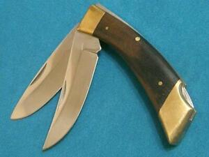 VINTAGE BROWNING JAPAN 30181F2 DBL LOCKBACK FOLDING HUNTER KNIFE SURVIVAL KNIVES