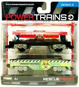 1 Package Jakks Pacific Power Trains Series 2 Rescue Freight 2 Train Cars