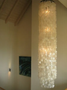 Muschelleuchte, Muschellampe Deckenleuchte Shell Lamp Ceiling 200 cm