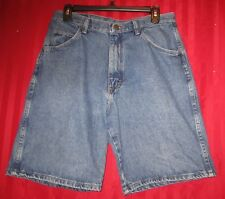 Men's Wrangler Denim Bermuda Shorts Dark Wash Size 32 Excellent